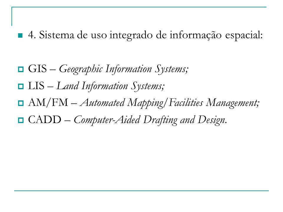 4. Sistema de uso integrado de informação espacial: