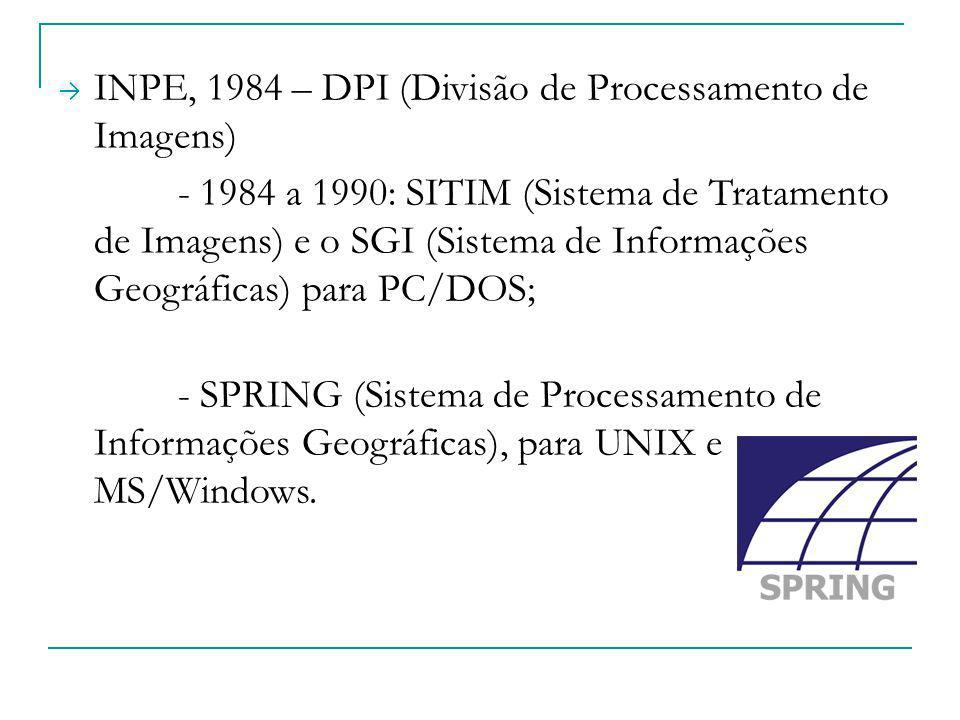 INPE, 1984 – DPI (Divisão de Processamento de Imagens)