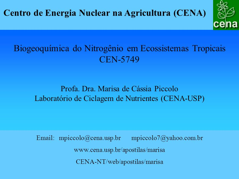 Centro de Energia Nuclear na Agricultura (CENA)