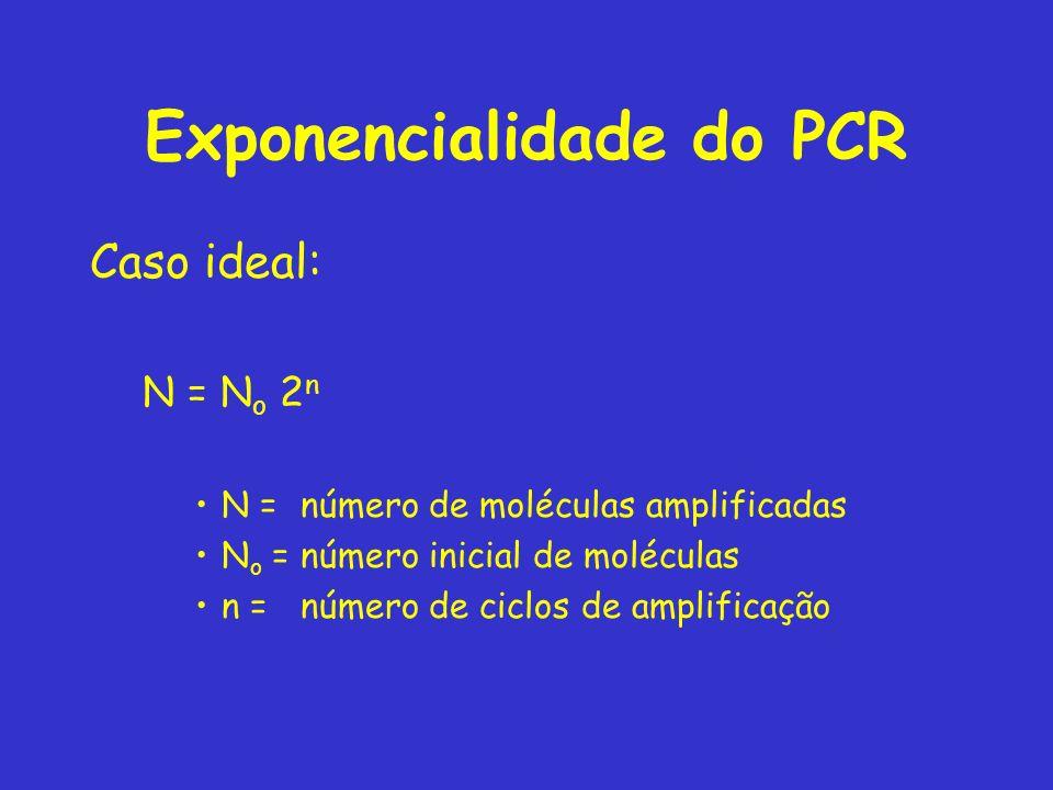 Exponencialidade do PCR