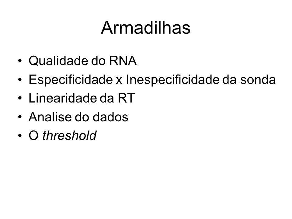 Armadilhas Qualidade do RNA Especificidade x Inespecificidade da sonda
