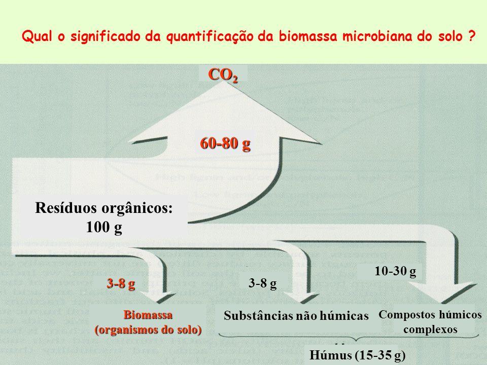 Resíduos orgânicos: 100 g 60-80 g CO2