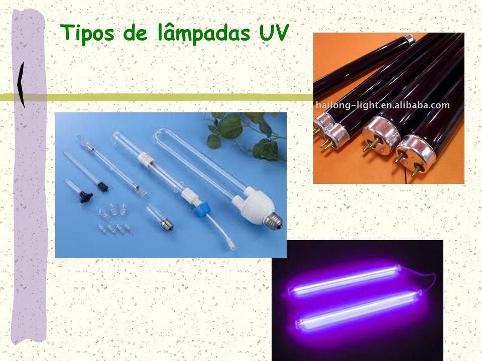 Tipos de lâmpadas UV