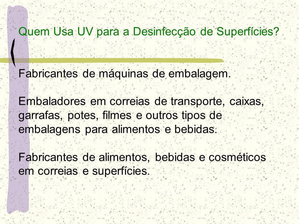 Quem Usa UV para a Desinfecção de Superfícies