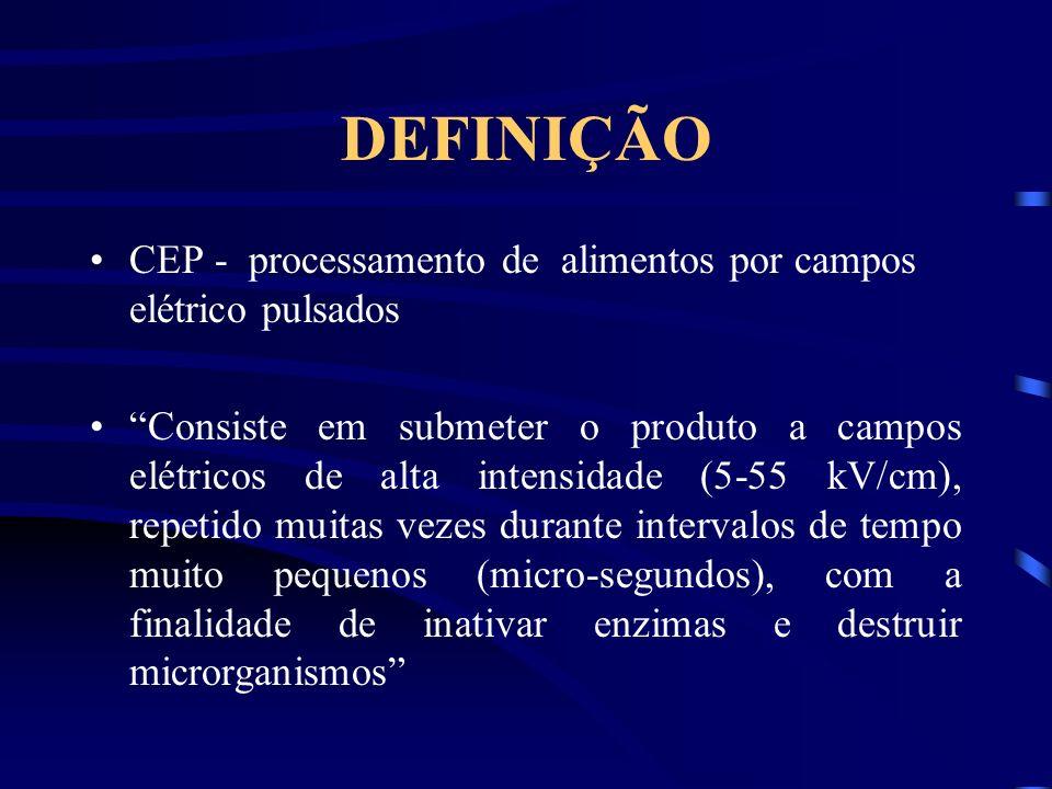 DEFINIÇÃO CEP - processamento de alimentos por campos elétrico pulsados.