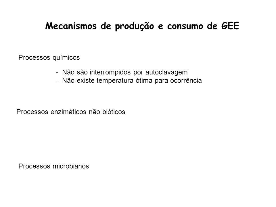 Mecanismos de produção e consumo de GEE