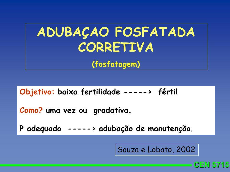 ADUBAÇAO FOSFATADA CORRETIVA