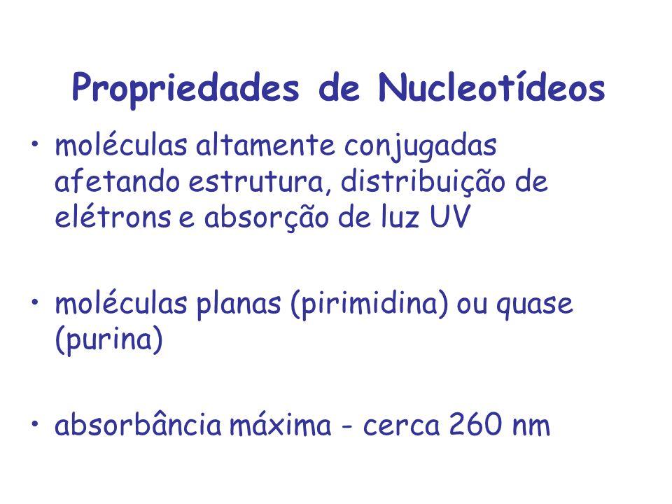 Propriedades de Nucleotídeos
