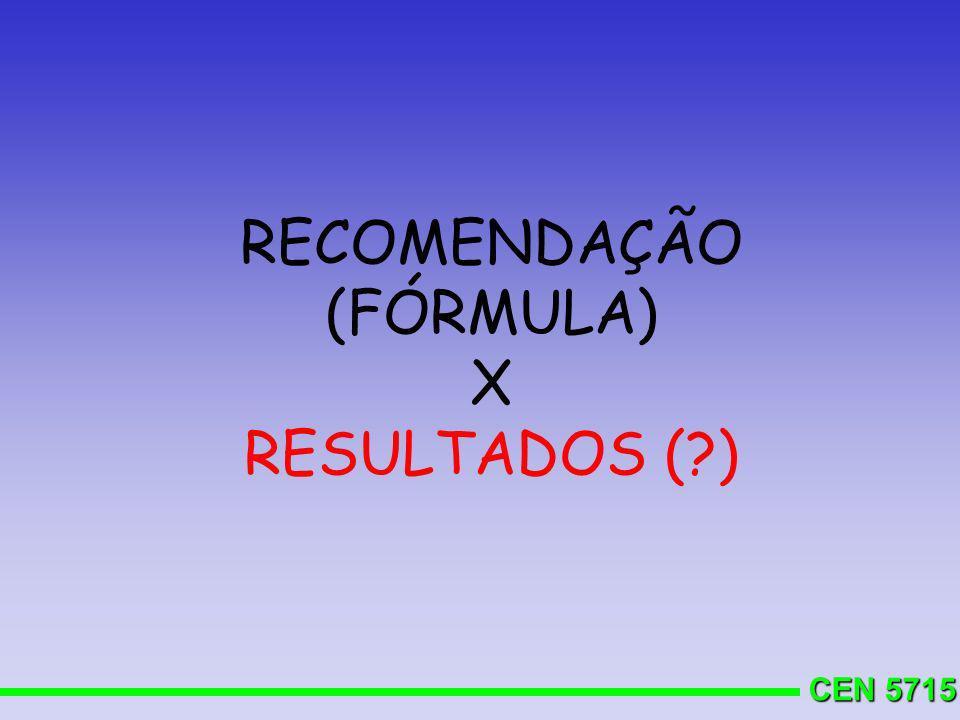 RECOMENDAÇÃO (FÓRMULA)