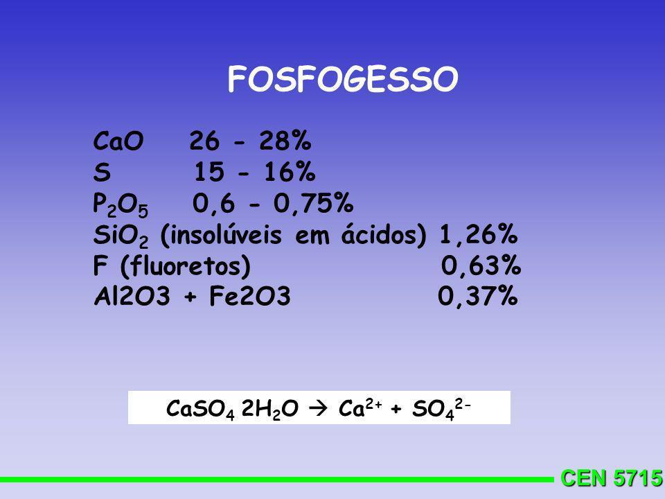 FOSFOGESSO CaO 26 - 28% S 15 - 16% P2O5 0,6 - 0,75%