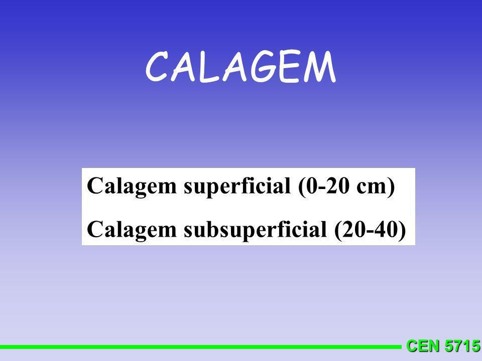 CALAGEM Calagem superficial (0-20 cm) Calagem subsuperficial (20-40)