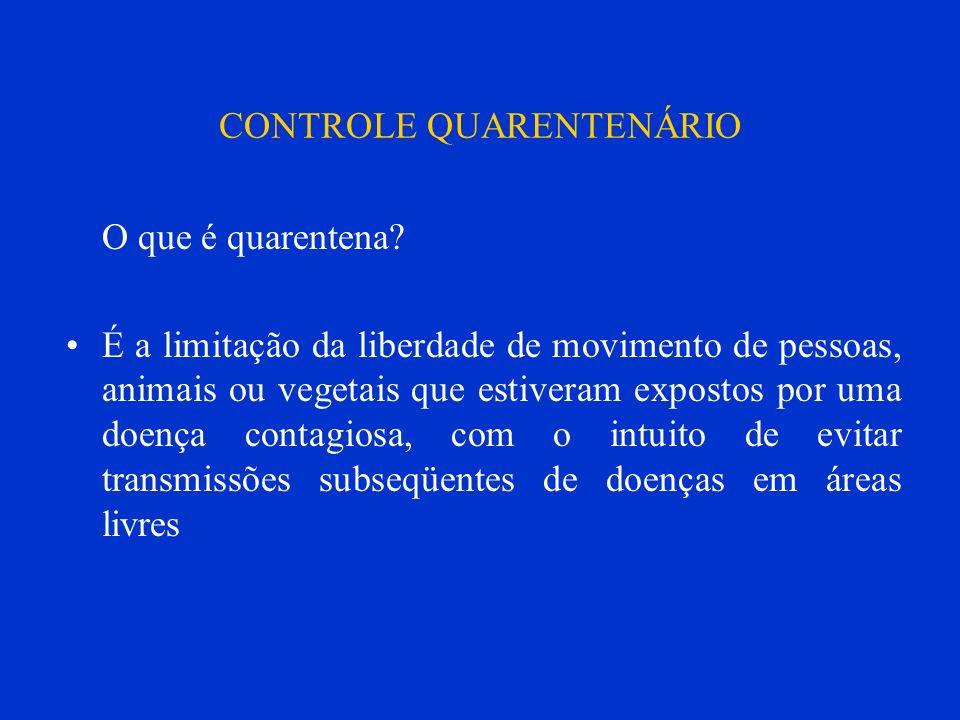 CONTROLE QUARENTENÁRIO