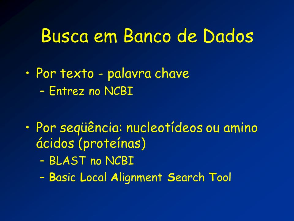 Busca em Banco de Dados Por texto - palavra chave