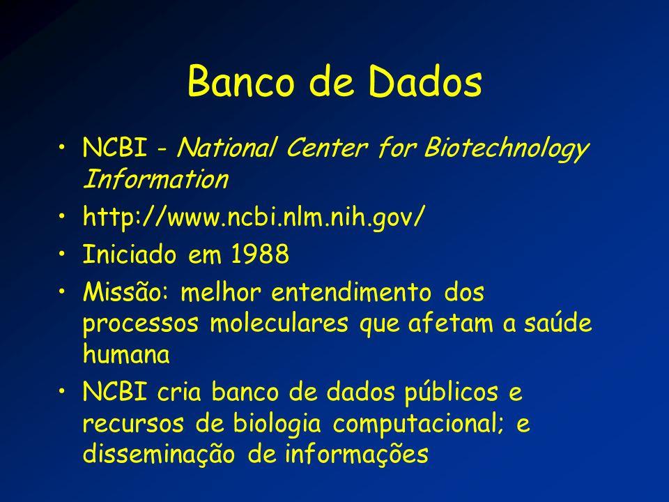 Banco de Dados NCBI - National Center for Biotechnology Information