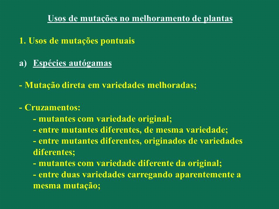 Usos de mutações no melhoramento de plantas