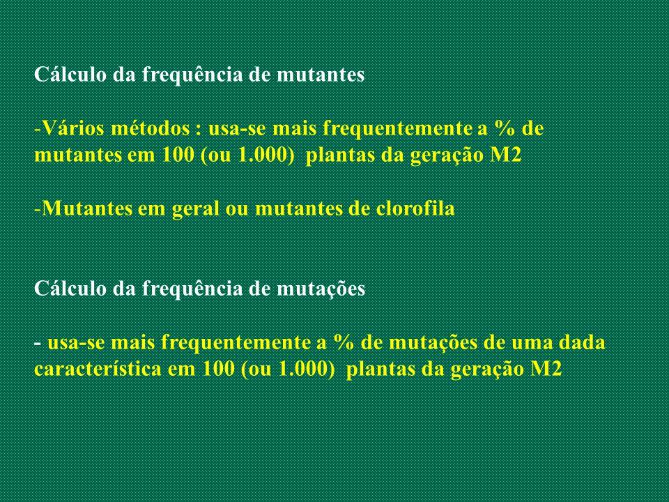Cálculo da frequência de mutantes