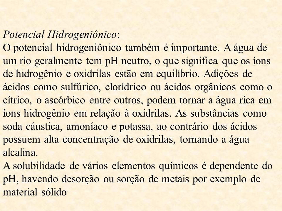 Potencial Hidrogeniônico: