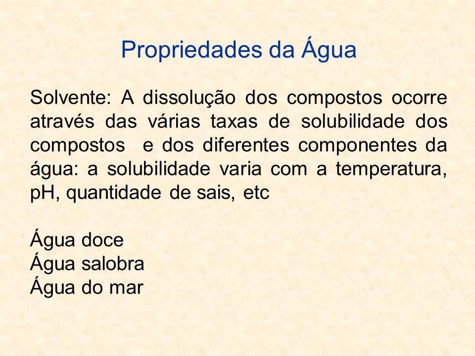 Propriedades da Água