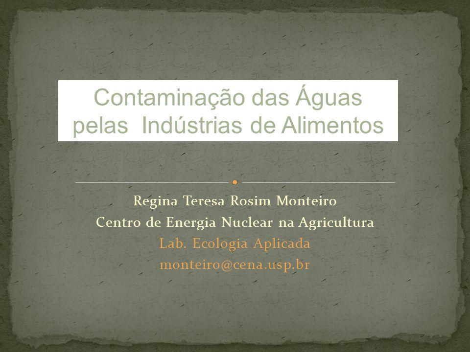 Contaminação das Águas pelas Indústrias de Alimentos