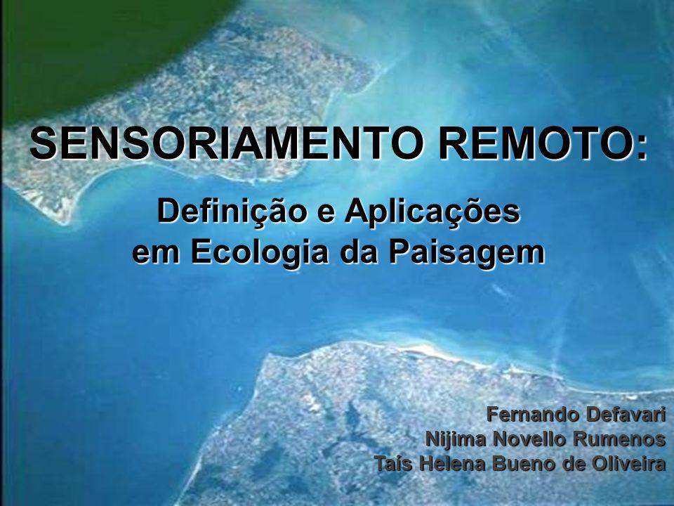 SENSORIAMENTO REMOTO: Definição e Aplicações em Ecologia da Paisagem