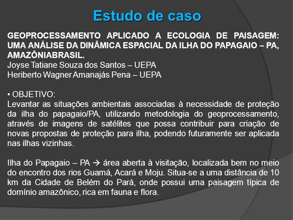 Estudo de caso GEOPROCESSAMENTO APLICADO A ECOLOGIA DE PAISAGEM: UMA ANÁLISE DA DINÂMICA ESPACIAL DA ILHA DO PAPAGAIO – PA, AMAZÔNIABRASIL.