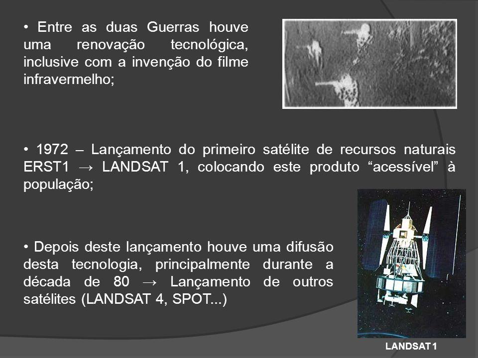 • Entre as duas Guerras houve uma renovação tecnológica, inclusive com a invenção do filme infravermelho;
