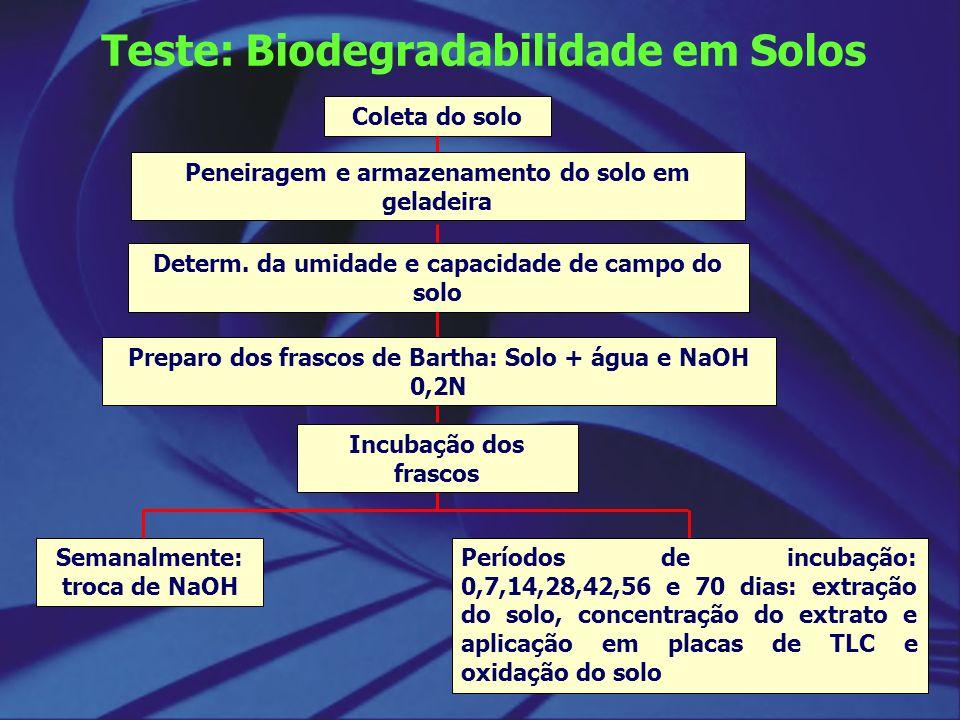 Teste: Biodegradabilidade em Solos