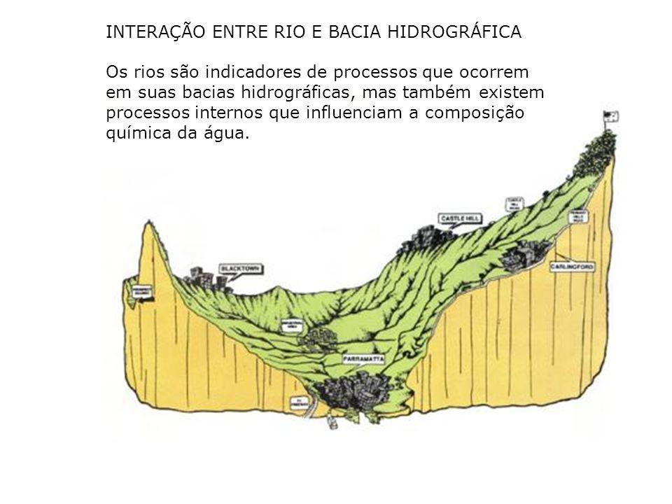 INTERAÇÃO ENTRE RIO E BACIA HIDROGRÁFICA