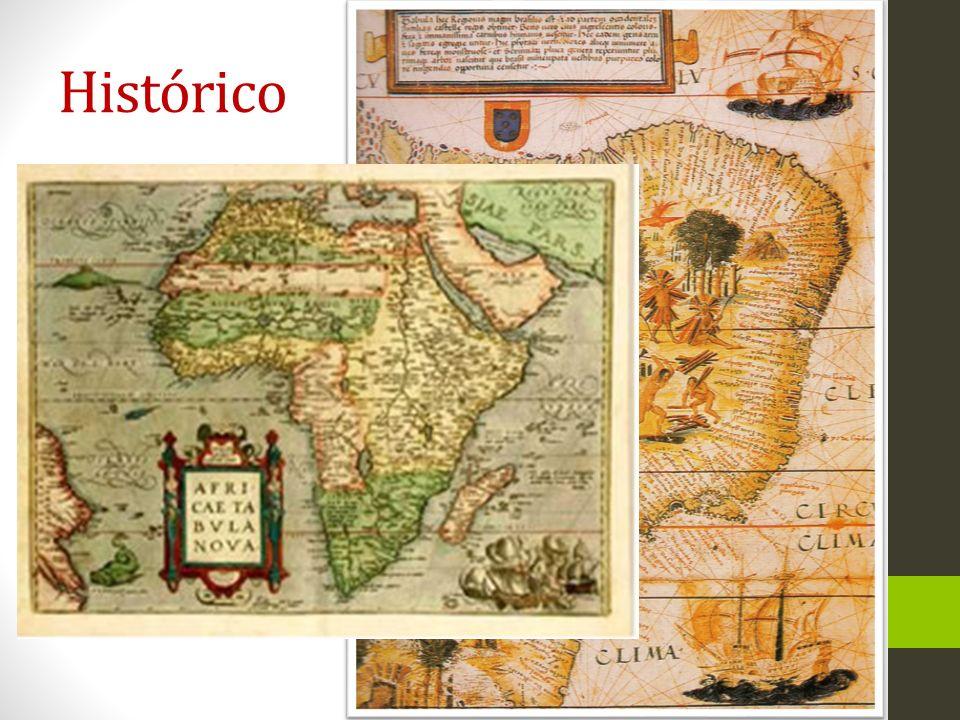 Histórico Tradicionalmente apresentada na forma de mapas