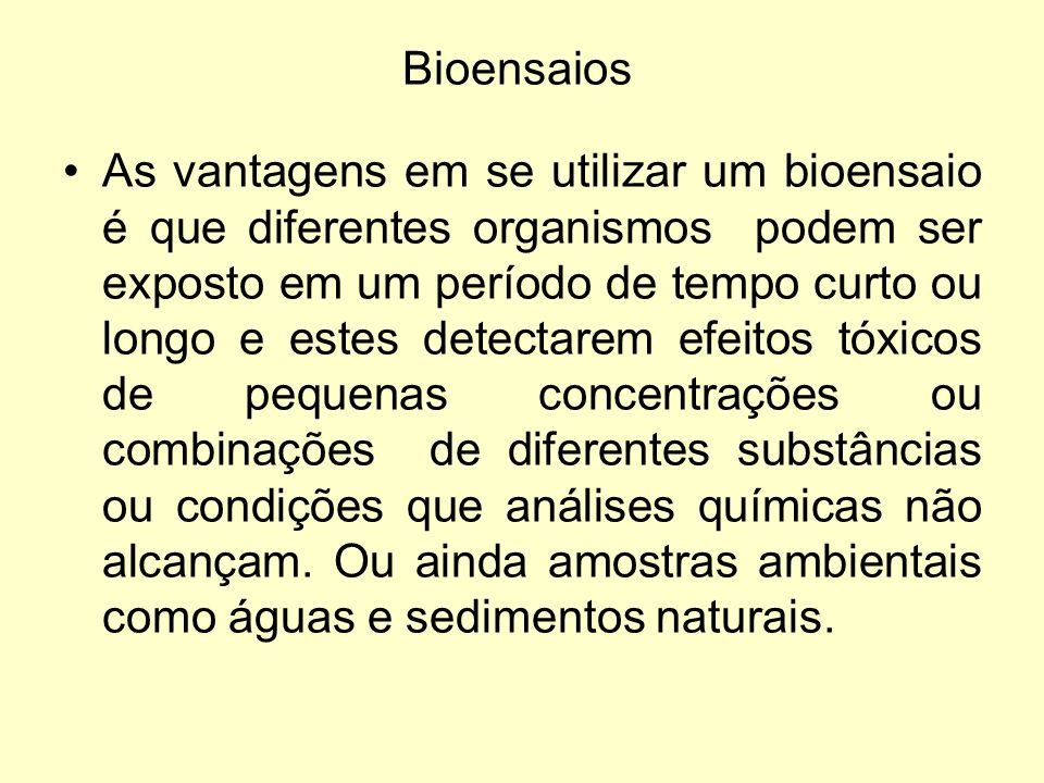 Bioensaios