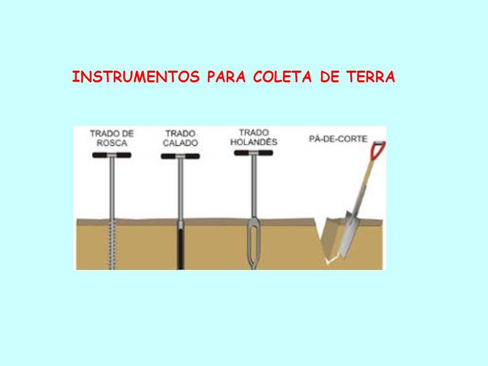 INSTRUMENTOS PARA COLETA DE TERRA