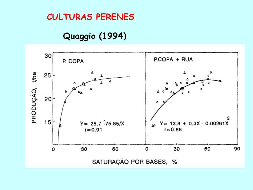 CULTURAS PERENES Quaggio (1994)