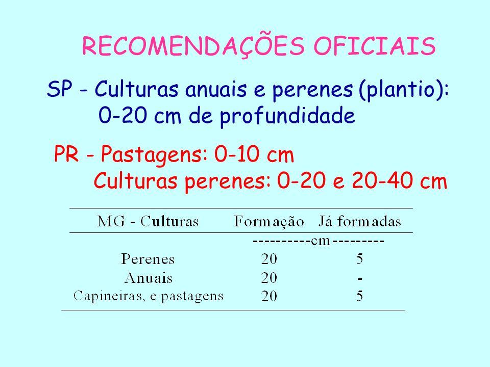 RECOMENDAÇÕES OFICIAIS