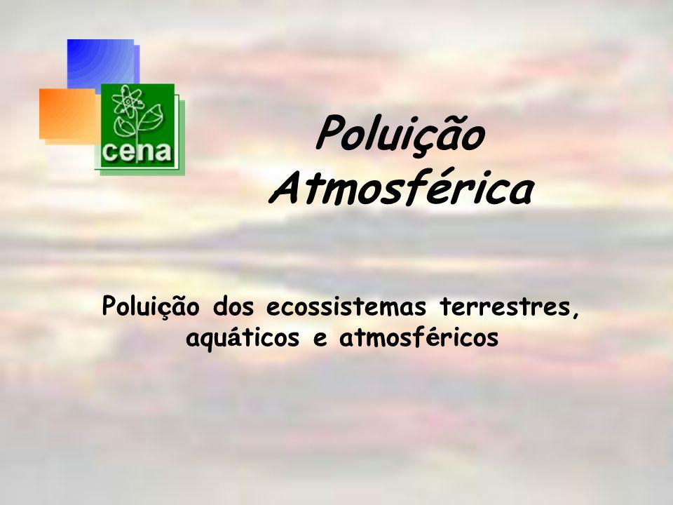 Poluição dos ecossistemas terrestres, aquáticos e atmosféricos