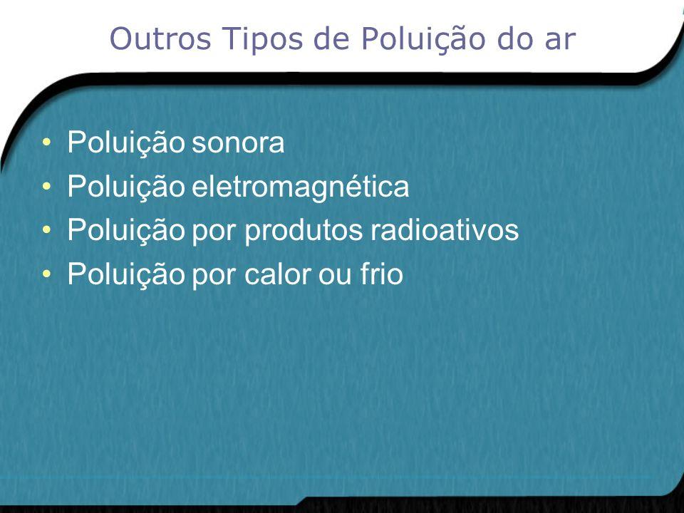 Outros Tipos de Poluição do ar