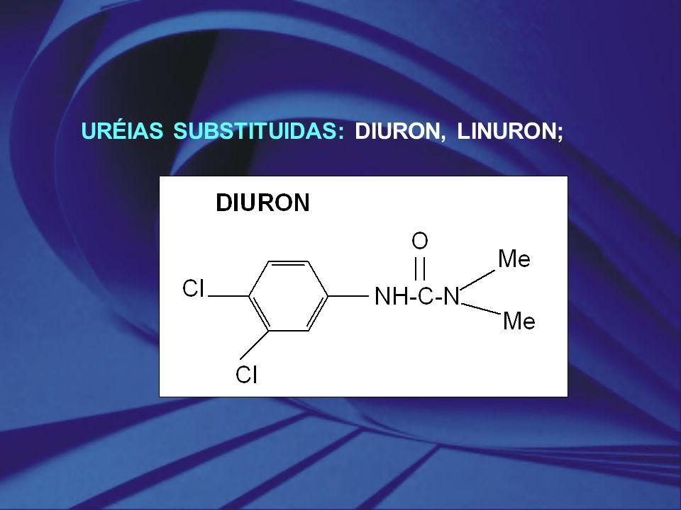 URÉIAS SUBSTITUIDAS: DIURON, LINURON;