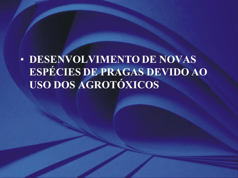 DESENVOLVIMENTO DE NOVAS ESPÉCIES DE PRAGAS DEVIDO AO USO DOS AGROTÓXICOS