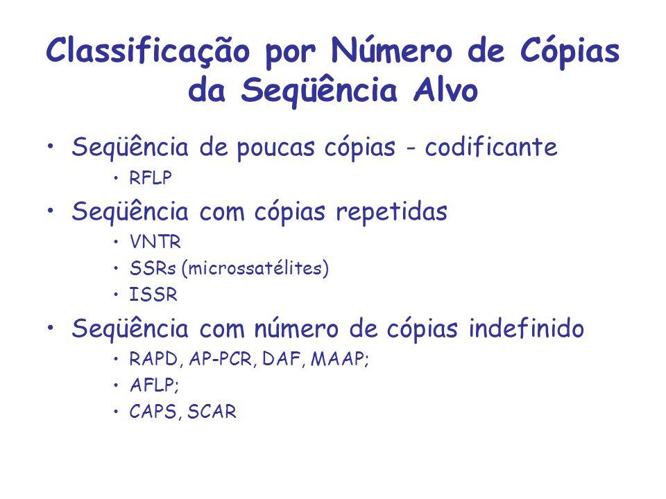 Classificação por Número de Cópias da Seqüência Alvo