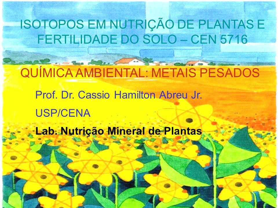ISOTOPOS EM NUTRIÇÃO DE PLANTAS E FERTILIDADE DO SOLO – CEN 5716