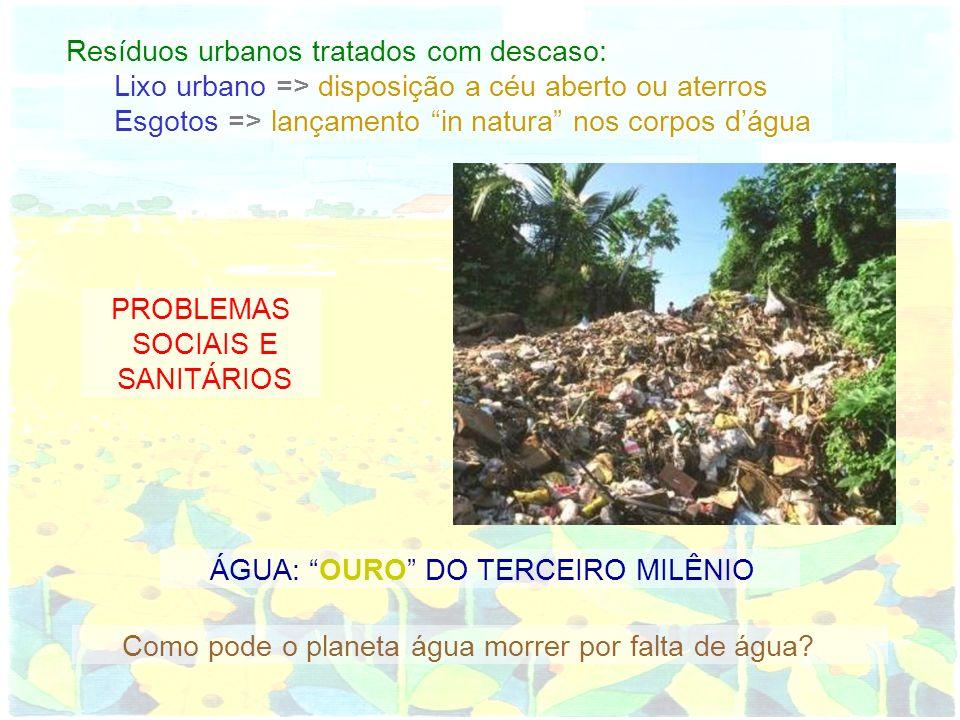 Resíduos urbanos tratados com descaso: