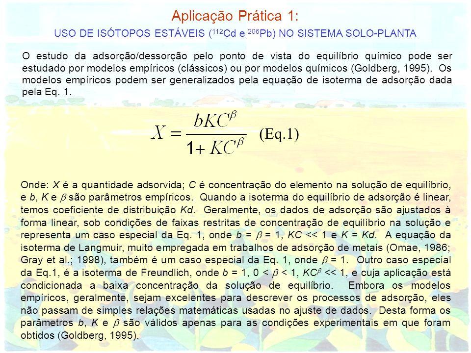 USO DE ISÓTOPOS ESTÁVEIS (112Cd e 206Pb) NO SISTEMA SOLO-PLANTA