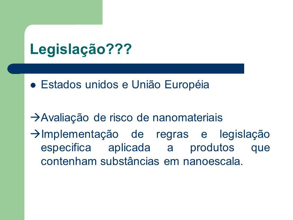 Legislação Estados unidos e União Européia