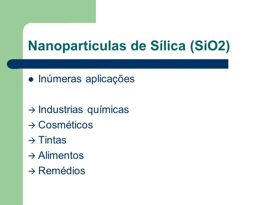 Nanoparticulas de Sílica (SiO2)