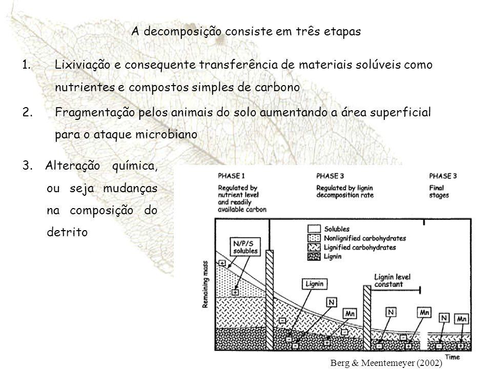 A decomposição consiste em três etapas