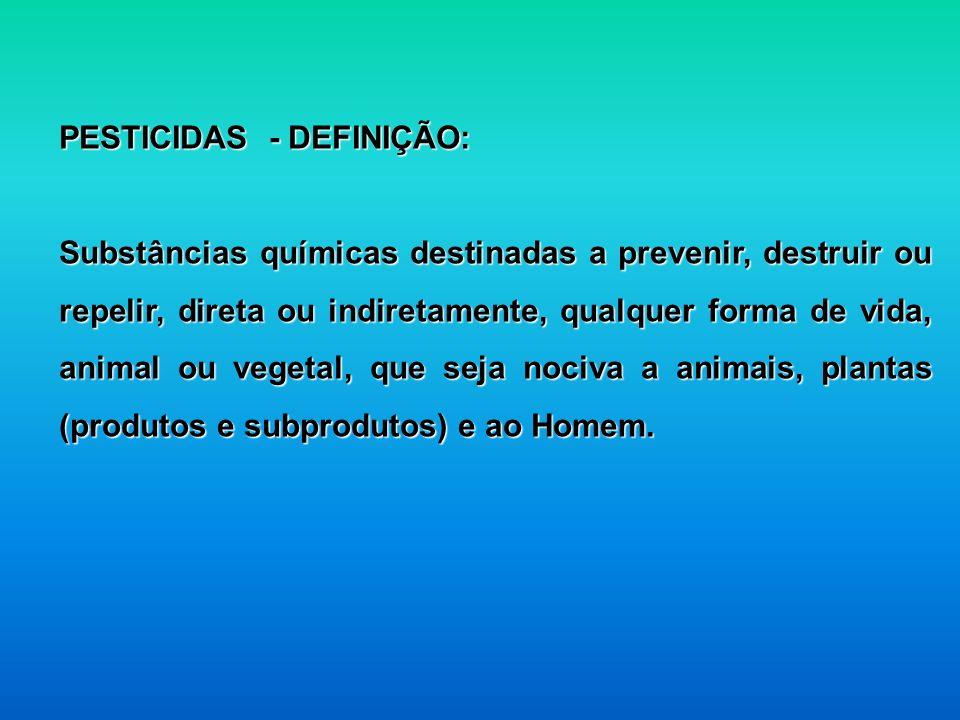 PESTICIDAS - DEFINIÇÃO: