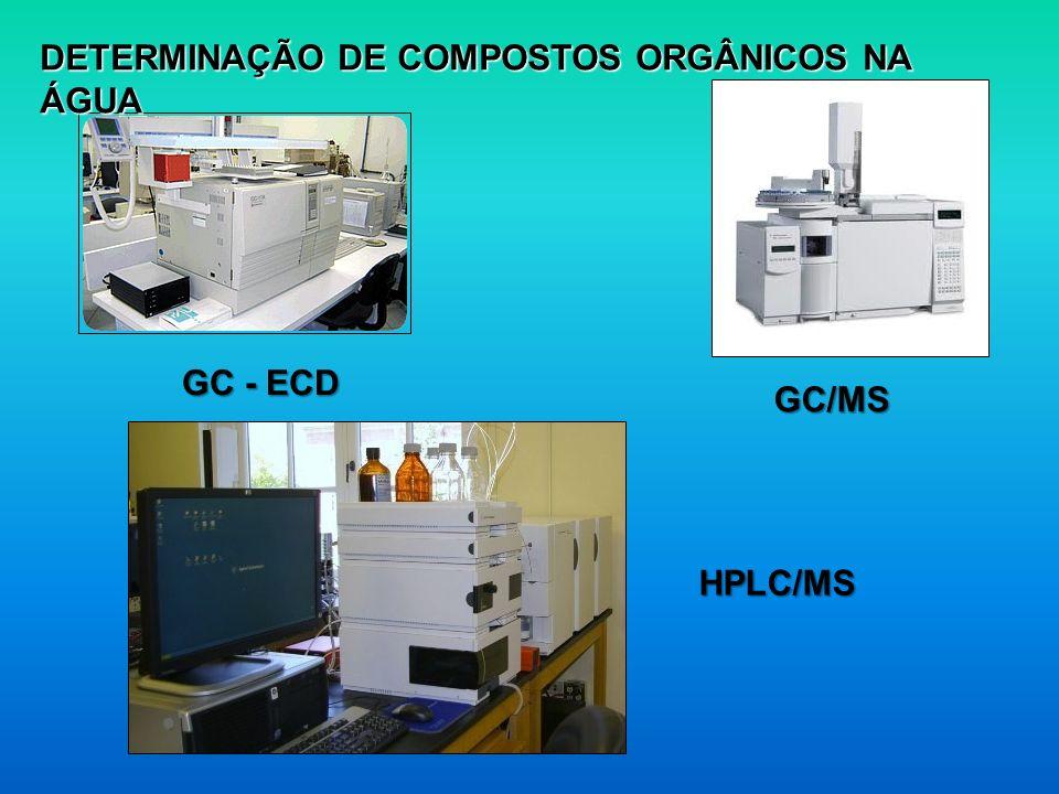 DETERMINAÇÃO DE COMPOSTOS ORGÂNICOS NA ÁGUA