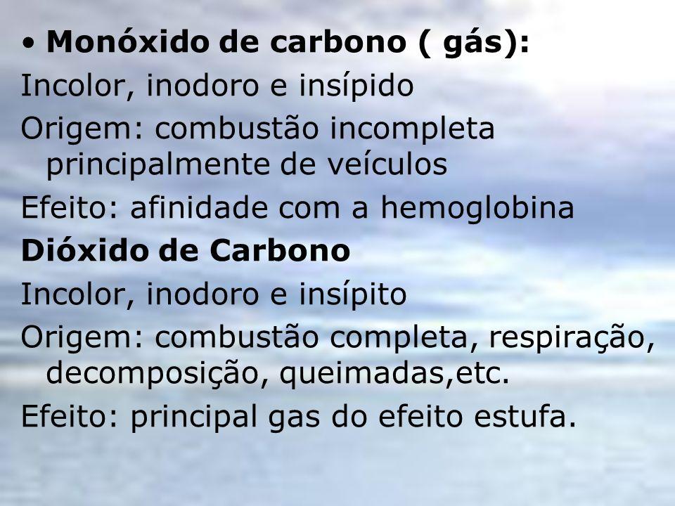 Monóxido de carbono ( gás):