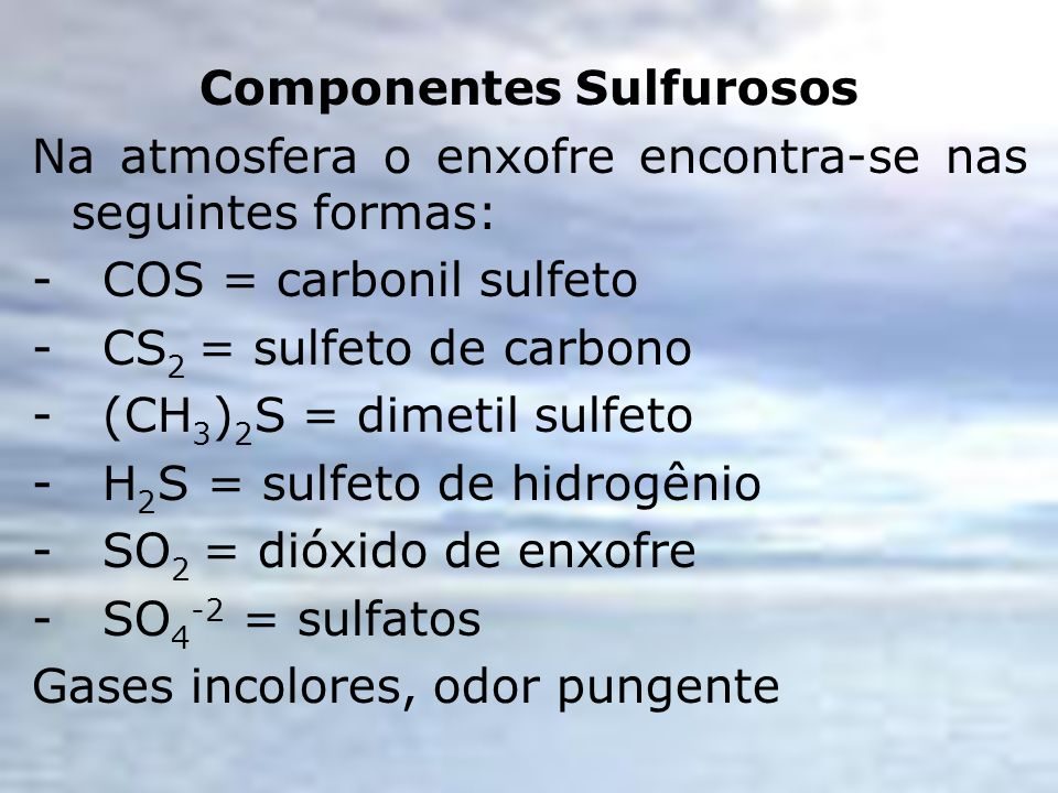 Componentes Sulfurosos