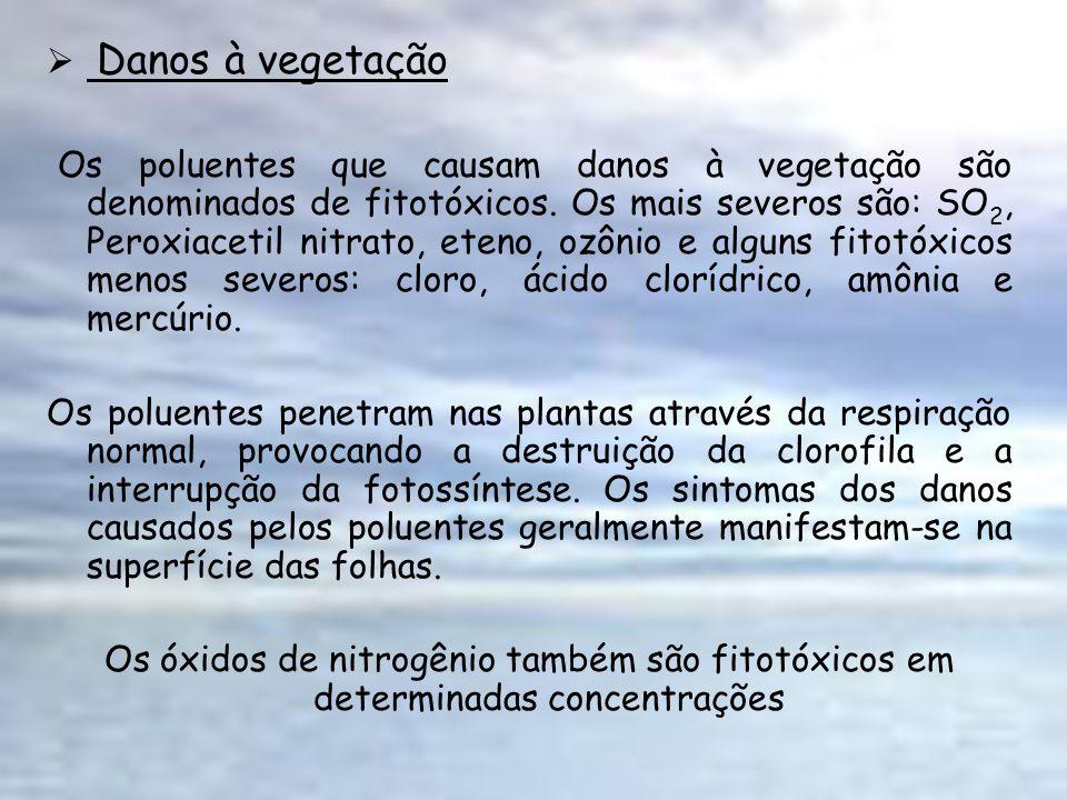 Danos à vegetação