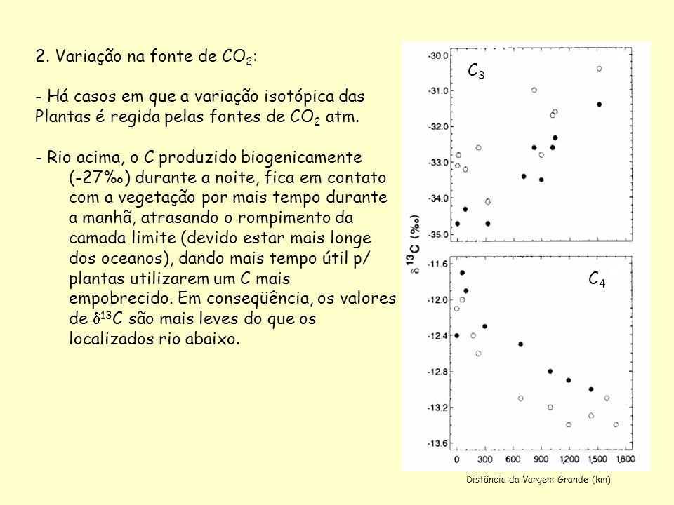 2. Variação na fonte de CO2: